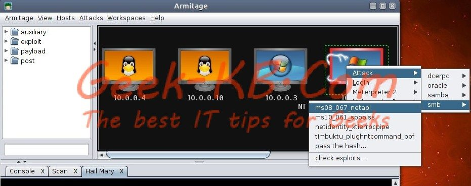 Armitage on Backtrack 5 R2: Step by Step to Hack Windows