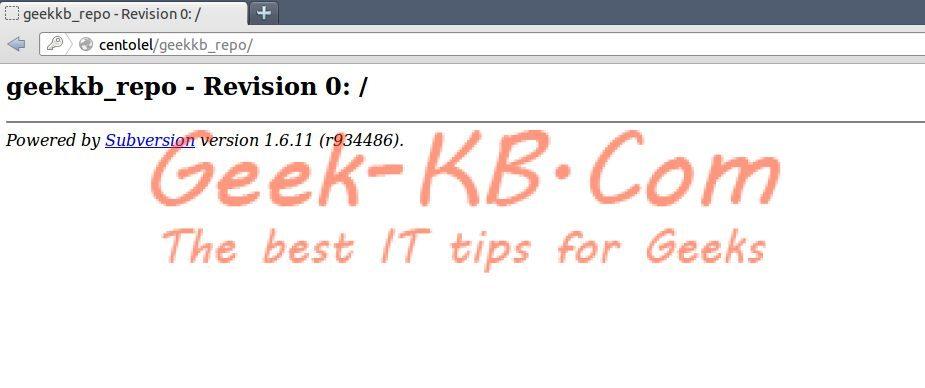 How To: Install Subversion on Linux CentOS/RHEL 6.x - Geek-KB.com