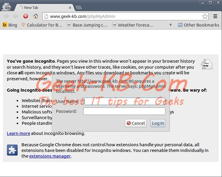 How To: Install phpMyAdmin on CentOS/RHEL 6.x - Geek-KB.com