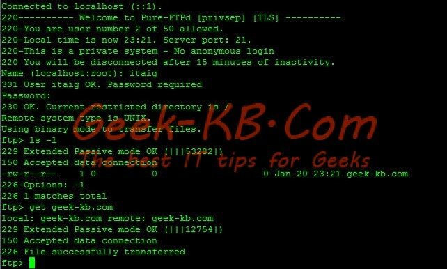 How to: Setup Pure-FTPd with MySQL on CentOS/RedHat 6.x - Geek-KB.com