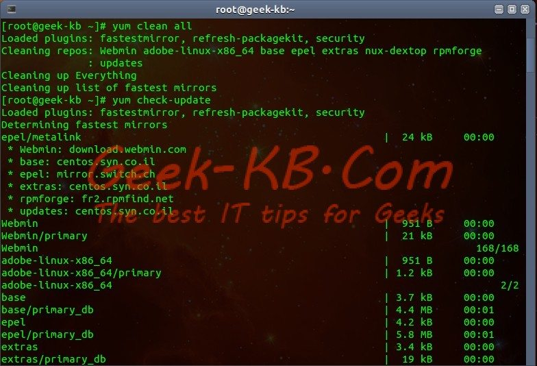 How To: Upgrade CentOS Linux v6.x to v6.5 - Geek-KB.com